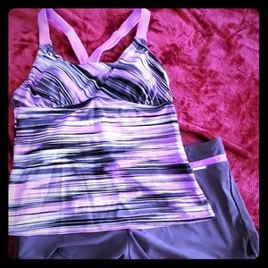 NWOT two peice tankini with shorts